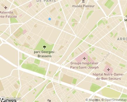 Localisation EHPAD Résidence Castagnary - 75015 - Paris 15