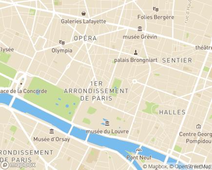 Localisation AXEO Services - 75001 - Paris 01