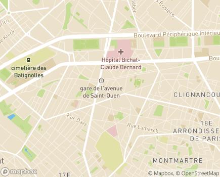 Localisation Plateforme d'Accompagnement et de Répit DELTA 7 Paris - 75018 - Paris 18