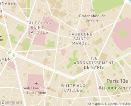 Localisation USLD Paris Centre Site Broca - 75013 - Paris 13