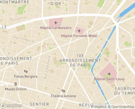 Localisation ASAD - Association de Soins et d'Aide à Domicile - 75010 - Paris 10