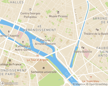 Localisation Résidence Autonomie Ave Maria - 75004 - Paris 04