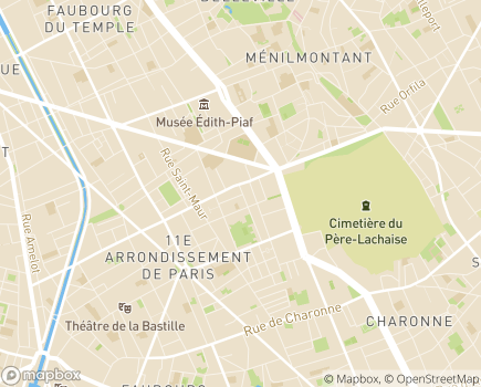 Localisation Résidence Autonomie Omer Talon - 75011 - Paris 11