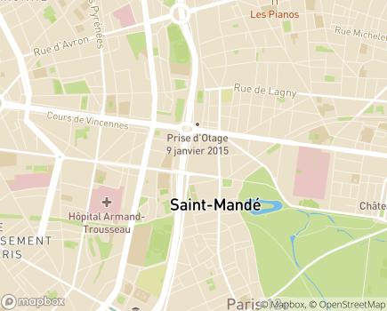 Localisation Résidence Autonomie Les Tourelles - 75012 - Paris 12