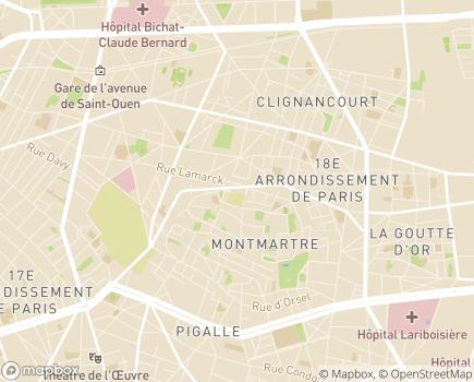 Localisation Résidence Autonomie Caulaincourt - 75018 - Paris 18