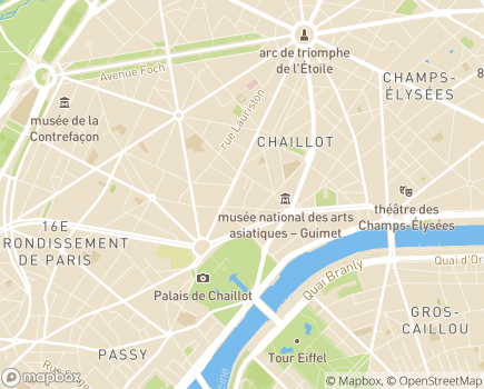 Localisation EHPAD Résidence Trocadéro - 75116 - Paris 16