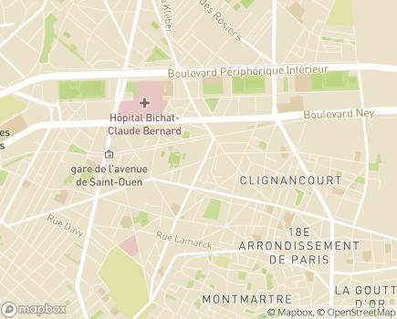 Localisation AMSAV Soins à domicile - 75018 - Paris 18