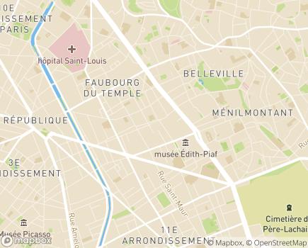 Localisation Association Ambroise Croizat - 75011 - Paris 11