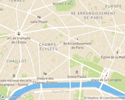 Localisation Vitalliance Agence de Paris - 75008 - Paris 08
