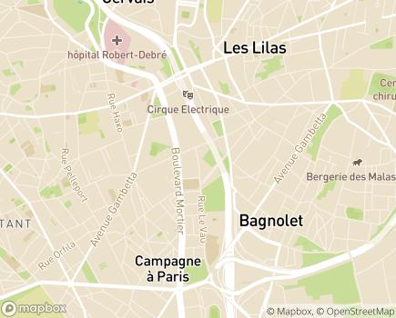 Localisation ADVI Services - 75020 - Paris 20
