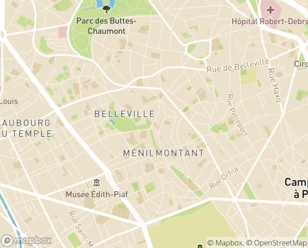 Localisation Clinéa - Clinique du Parc de Belleville - 75020 - Paris 20