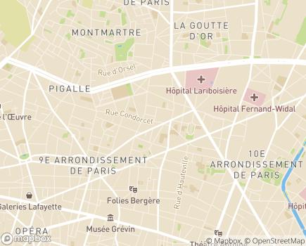 Localisation Alliance Vie - 75009 - Paris 09