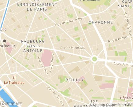Localisation APSSAD Association Polyvalente de services, de Soins et d'Accompagnement à Domicile - Soins Infirmiers de Nuit - 75012 - Paris 12