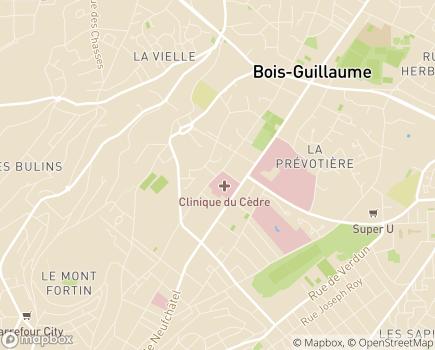 Localisation Clinique du Cèdre - 76235 - Bois-Guillaume