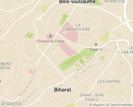Localisation CRMPR Les Herbiers (UGECAM) - 76230 - Bois-Guillaume