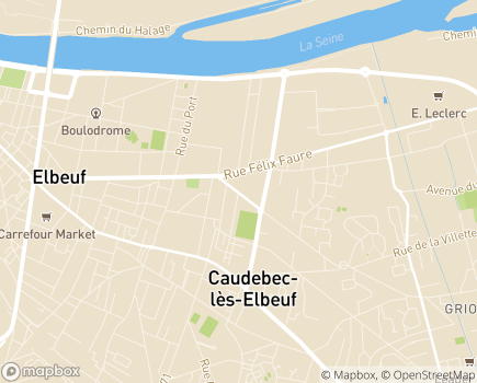 Localisation EHPAD Lecallier Leriche Epms - 76320 - Caudebec-lès-Elbeuf