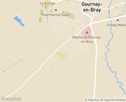 Localisation EHPAD Les Jardins de Gournay - 76220 - Gournay-en-Bray