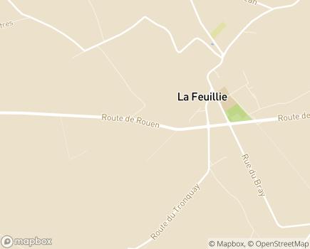 Localisation EHPAD Noury - 76220 - La Feuillie