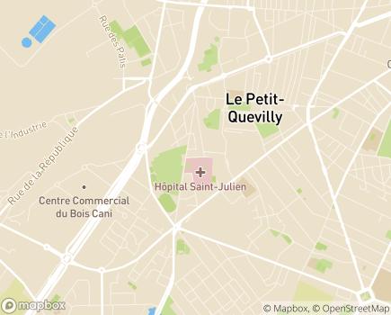 Localisation Hôpital Saint-Julien - 76140 - Le Petit-Quevilly