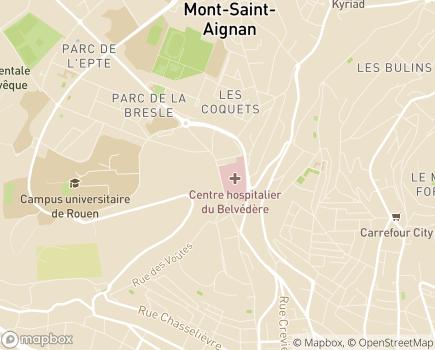 Localisation Centre Hospitalier du Belvédère - 76131 - Mont-Saint-Aignan