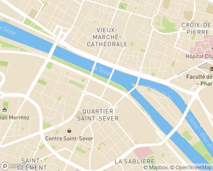Localisation Conseil Départemental de Seine-Maritime - 76101 - Rouen