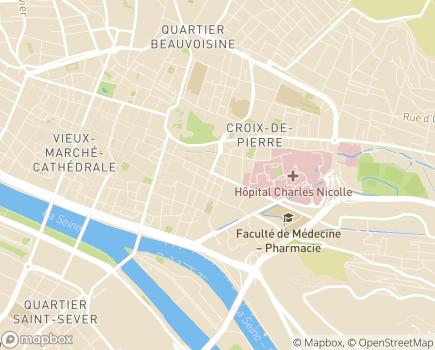 Localisation Centre Henri Becquerel, Centre Régional de Lutte contre le Cancer - 76038 - Rouen
