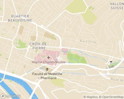 Localisation Clinique Saint-Hilaire - 76044 - Rouen