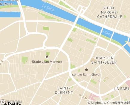 Localisation Résidence Les Faienciers - 76100 - Rouen