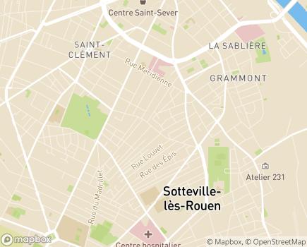 Localisation Atelier de Jour Les Lierres - 76300 - Sotteville-lès-Rouen