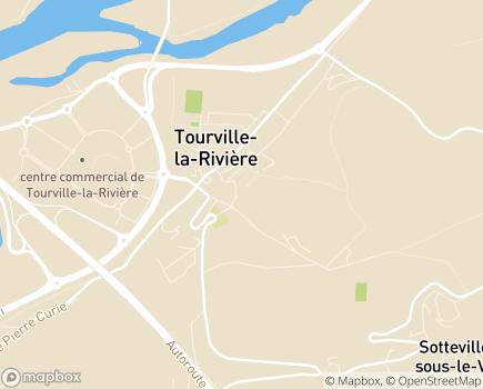 Localisation EHPAD Les Jonquilles - 76410 - Tourville-la-Rivière