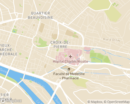 Localisation Hôpital Charles Nicolle - 76031 - Rouen