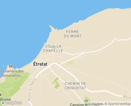 Localisation Résidence Etoile du Matin - 76790 - Étretat