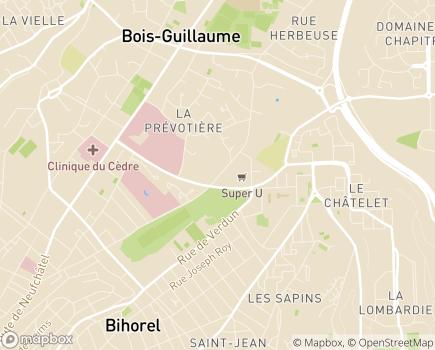 Localisation Section pour Enfants et Adolescents Polyhandicapés Le Jardin d'Eveils - 76230 - Bois-Guillaume