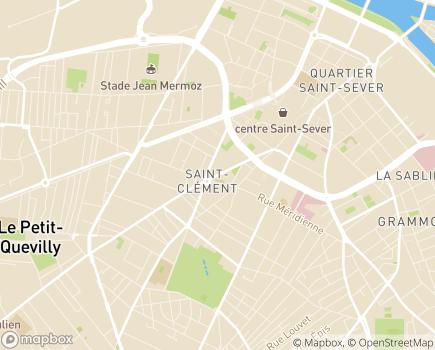 Localisation CAMSP Beethoven - 76100 - Rouen
