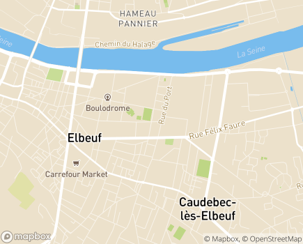 Localisation EHPAD La Ruche - 76500 - Elbeuf