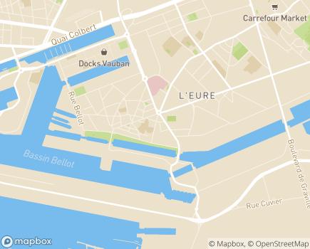 Localisation Résidence avec Services Les Girandières - 76600 - Le Havre