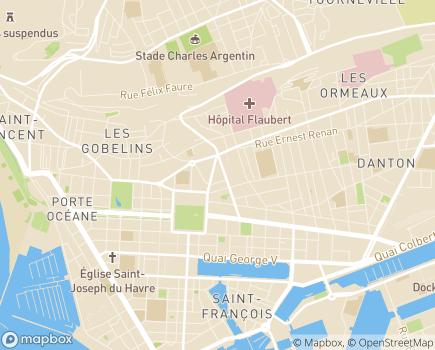 Localisation Les Jardins d'Arcadie Le Havre René Coty - 76600 - Le Havre