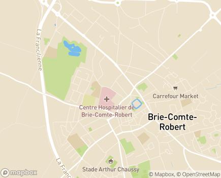 Localisation Centre Hospitalier - 77255 - Brie-Comte-Robert
