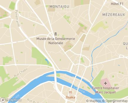 Localisation Conseil départemental de Seine-et-Marne - 77010 - Melun