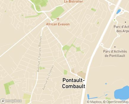 Localisation Korian Les Roses - 77340 - Pontault-Combault
