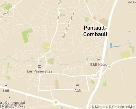Localisation EHPAD BTP RMS Résidence Le Parc - 77340 - Pontault-Combault