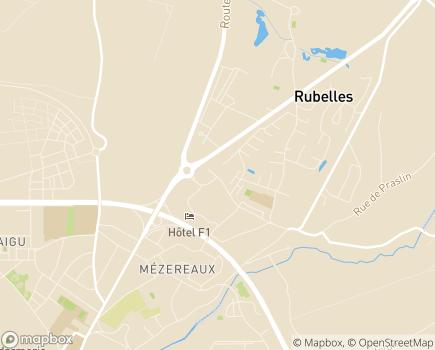 Localisation Foyer de l'Enfance Alizé Hameau du Moulin - 77950 - Rubelles