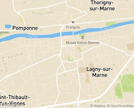 Localisation Les Jardins d'Arcadie Lagny-sur-Marne - 77400 - Lagny-sur-Marne