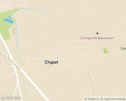 Localisation Clinique de Bazincourt LNA Santé - 78130 - Chapet