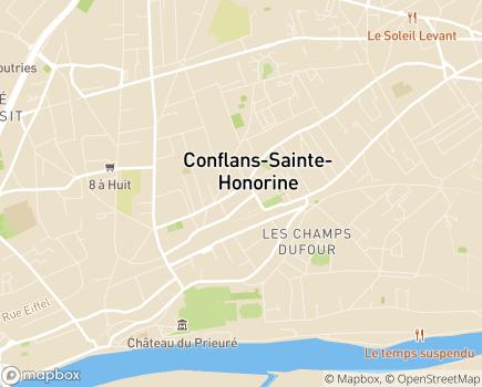 Localisation EHPAD Résidence de La Tour - 78700 - Conflans-Sainte-Honorine