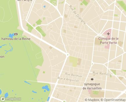 Localisation Korian Hameau du Roy - 78150 - Le Chesnay