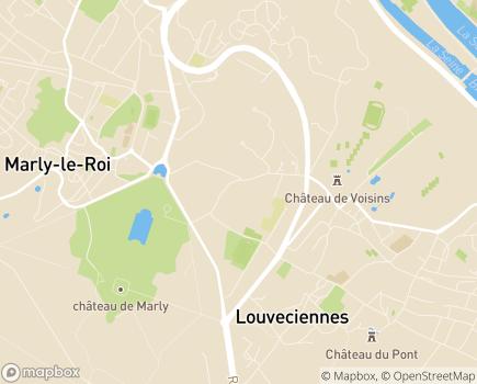 Localisation Korian Le Coeur Volant - 78430 - Louveciennes