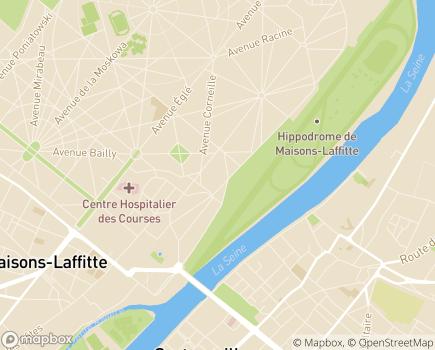 Localisation Centre de Soins de Suite et de Réadaptation et Institut de Néphrologie MGEN - 78604 - Maisons-Laffitte