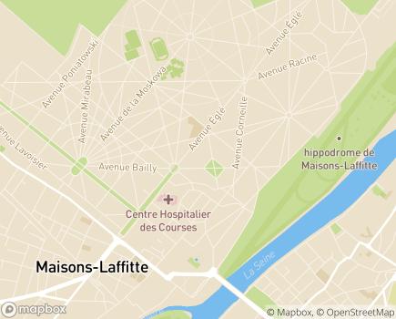 Localisation Maison de Retraite Médicalisée Le Belvédère - 78600 - Maisons-Laffitte