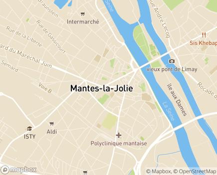 Localisation Centre Communal d'Action Sociale - 78200 - Mantes-la-Jolie